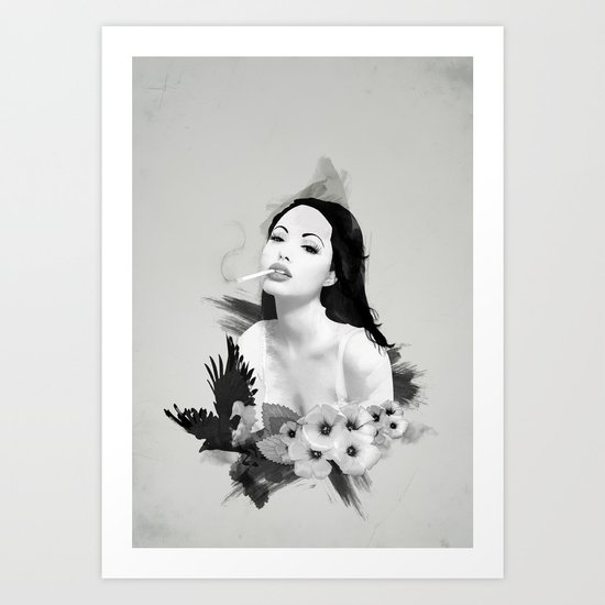 Fatal Beauty Art Print