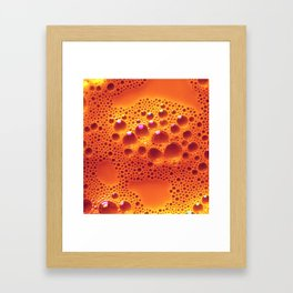 Orange Adagio Framed Art Print