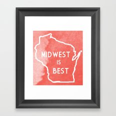 Midwest is Best in Badger Framed Art Print