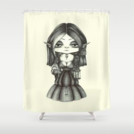 A Poisonous October Shower Curtain