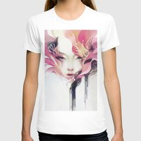 portrait T-shirts featuring Bauhinia by Anna Dittmann