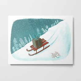 sled post Metal Print