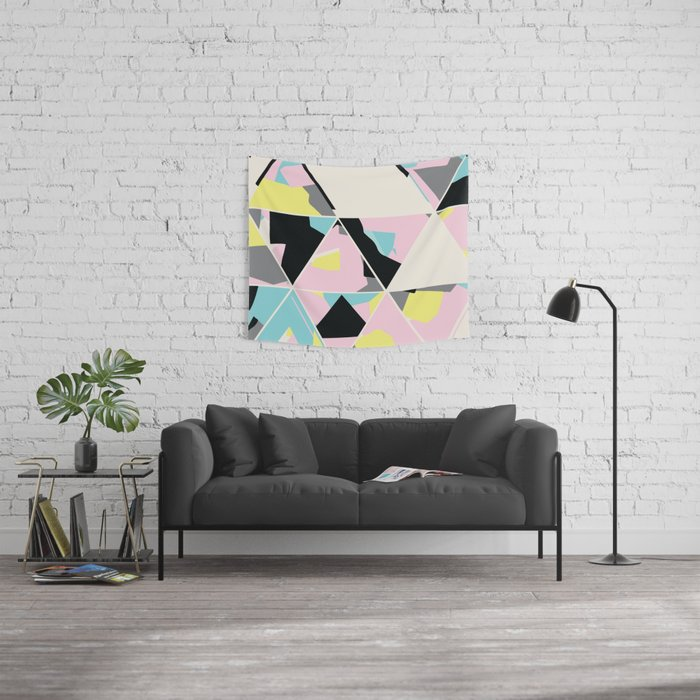 triangle no.3 / with love Wall Tapestry