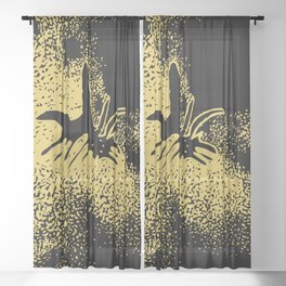 stardust bee Sheer Curtain
