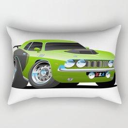 Classic Seventies Style American Muscle Car Cartoon Rectangular Pillow