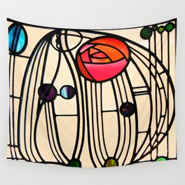 "Charles Rennie Mackintosh ""Stained glass window"" Wall Tapestry"