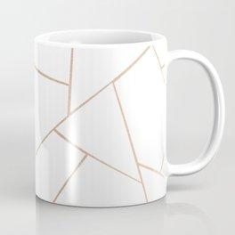 Rose Gold White Geometric Glam #1 #geo #decor #art #society6 Coffee Mug