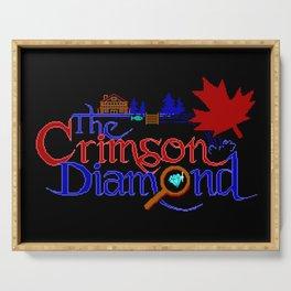 The Crimson Diamond colour logo Serving Tray