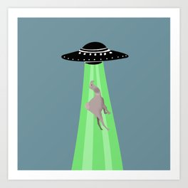 Aliens abduction camel Art Print