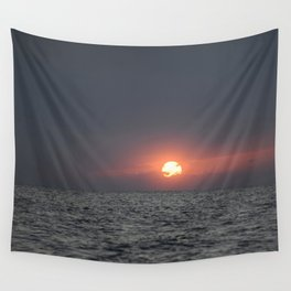 Sunset open sea Wall Tapestry
