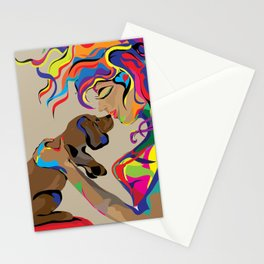 """""""Fall in Lust"""" Paulette Lust's Original, Contemporary, Whimsical, Colorful Art  Stationery Cards"""