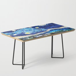 Tardis Art Starry City Night Coffee Table