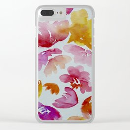 Tropical Florals Clear iPhone Case