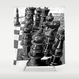 I Love Chess Shower Curtain
