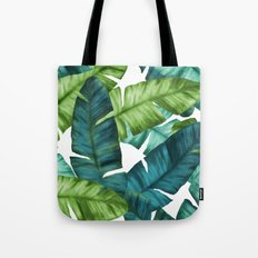 Tropical Banana Leaves Unique Pattern Tote Bag