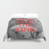 moriarty Duvet Covers featuring Long Live the King / Moriarty / I by Earl of Grey