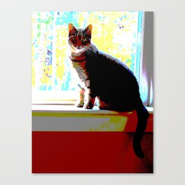 Pop Art Kitty Canvas Print
