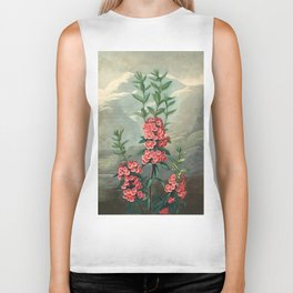 Pink Floral The Narrow-leaved Kalmia : Temple of Flora Biker Tank