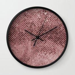 Modern abstract rose gold glitter Wall Clock
