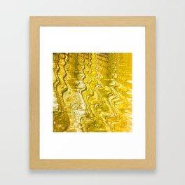 Golden Reflection on Surface Of Lake #decor #society6 #buyart Framed Art Print