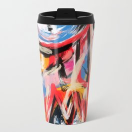 Art brut outsider underground graffiti portrait Travel Mug