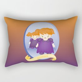 Gemini Child Zodiac Sign Illustration Rectangular Pillow