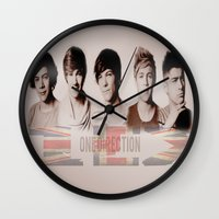 one direction Wall Clocks featuring One Direction by store2u