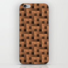 Brown Squares Pattern iPhone & iPod Skin