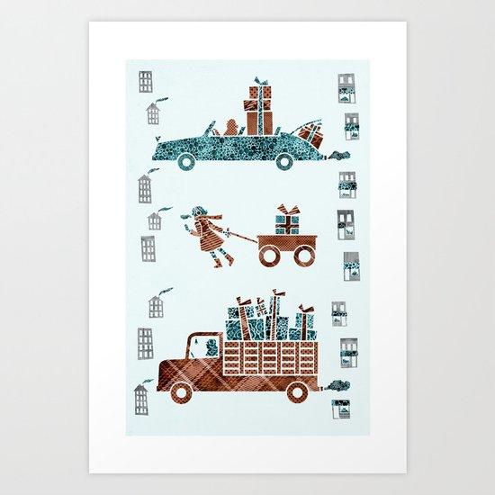 Present Transportation Art Print