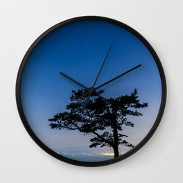 Starry Night At Raven's Roost Wall Clock