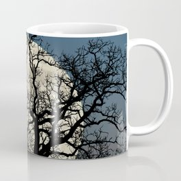 Tree Full Moon Midnight Blue Sky Cottage Decor Art A474 Coffee Mug