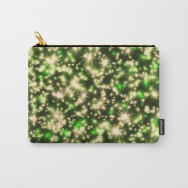 Gold and Green Holiday Lights Carry-All Pouch