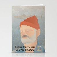 steve zissou Stationery Cards featuring Zissou by Jake Jones