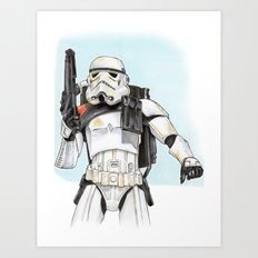 Sandtrooper Art Print