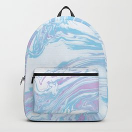 Blue sea marble Backpack