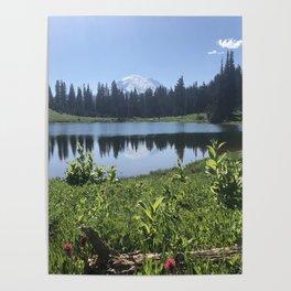 Mount Rainier from Tipsoo Lake Poster