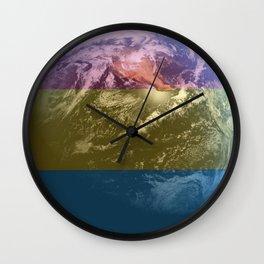 Pansexual Earth Wall Clock