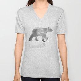 graphic bear III Unisex V-Neck