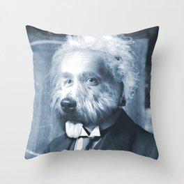Albie Einstein Throw Pillow