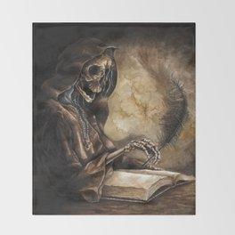 Skeleton Scribe Throw Blanket