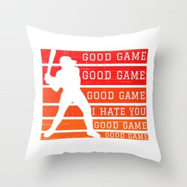 Baseball  rage Throw Pillow