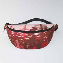 Pine Forest - Red and Pink Fanny Pack