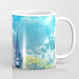 Watercolor Fish, Gray Angelfish 01, St John, USVI, Two's Company Coffee Mug