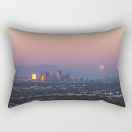 Los Angeles Supermoon Rectangular Pillow
