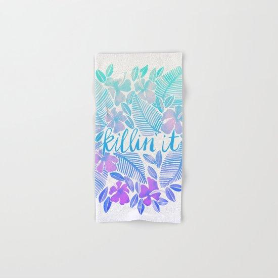 Killin' It – Turquoise + Lavender Ombré Hand & Bath Towel