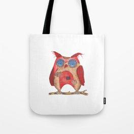 Fun textile owl Tote Bag