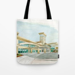 Watercolor Warwick World Headquarters Tote Bag