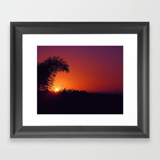 sunset in mexico Framed Art Print