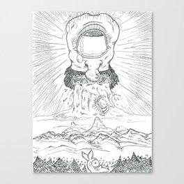 Da Cryeation . pencil Canvas Print