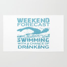 WEEKEND FORECAST SWIMMING Rug